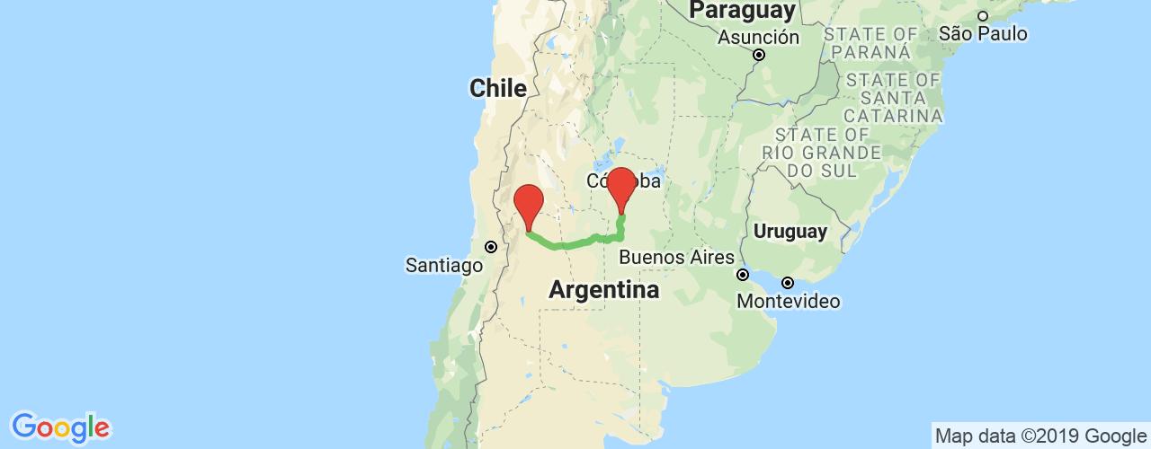 Comprar pasajes saliendo de Almafuerte (Córdoba) a Mendoza. Pasajes baratos a Mendoza en bus precio y horario desde Almafuerte (Córdoba).