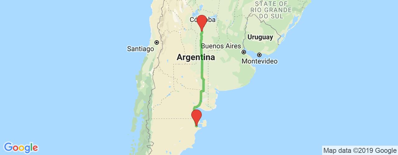 Comprar pasajes saliendo de Almafuerte a Puerto Madryn. Pasajes baratos a Puerto Madryn en bus precio y horario desde Almafuerte.
