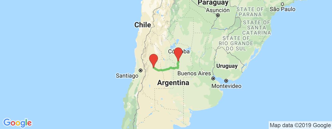 Comprar pasajes saliendo de Almafuerte a San Martín. Pasajes baratos a San Martín en bus precio y horario desde Almafuerte.