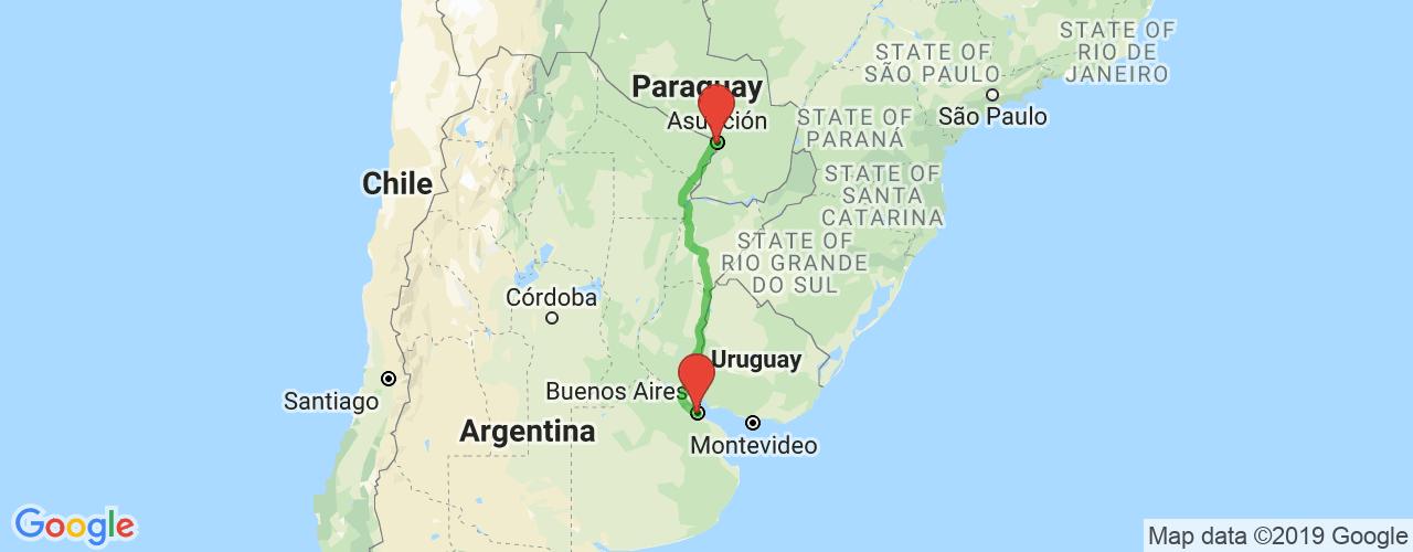 Comprar pasajes de Asunción a Buenos Aires en micro. Pasajes baratos a Buenos Aires en bus desde Asunción, Paraguay.