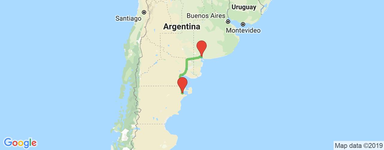 Comprar pasajes de Bahía Blanca a Puerto Madryn en micro. Pasajes baratos a Puerto Madryn en bus desde Bahía Blanca.