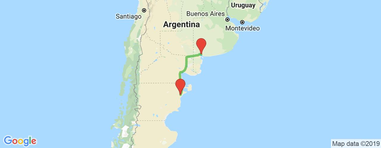 Comprar pasajes de Bahía Blanca a Trelew en micro. Pasajes baratos a Trelew en bus desde Bahía Blanca.