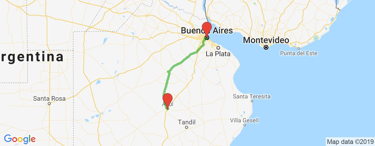 Comprar pasajes saliendo de Buenos Aires a Azul. Pasajes baratos a Azul en bus precio y horario desde Buenos Aires.
