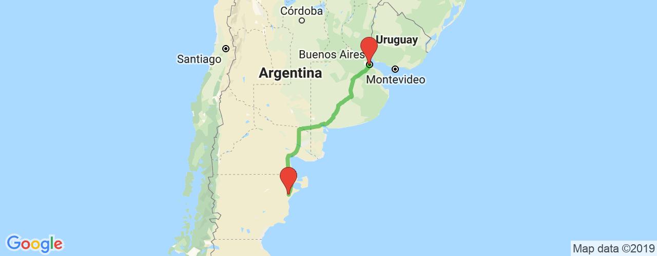 Comprar pasajes saliendo de Buenos Aires a Trelew. Pasajes baratos a Trelew en bus precio y horario desde Buenos Aires.