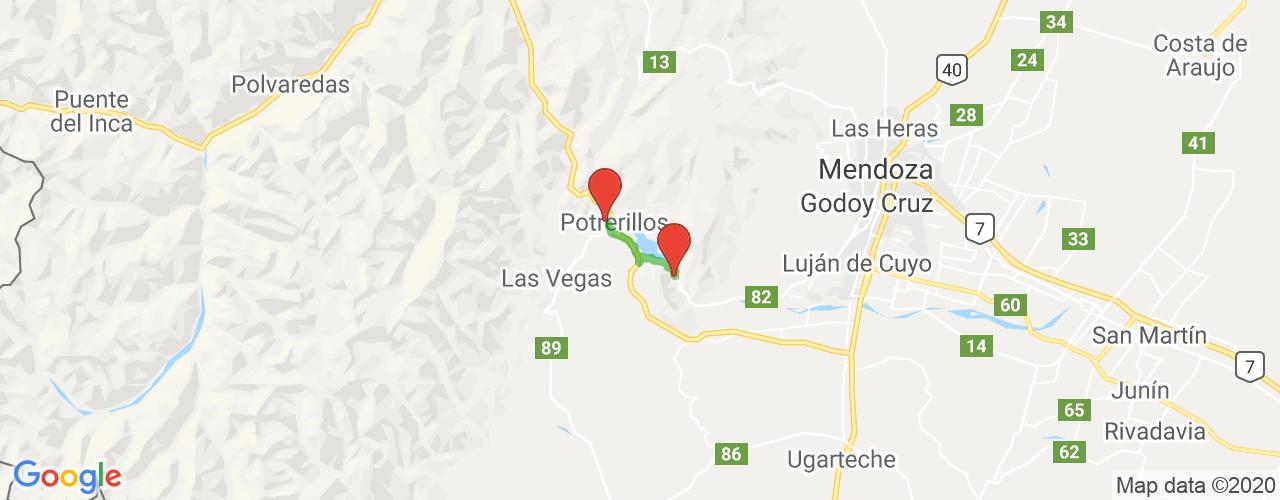 Comprar pasajes saliendo de Cacheuta a Potrerillos. Pasajes baratos a Potrerillos en bus precio y horario desde Cacheuta.