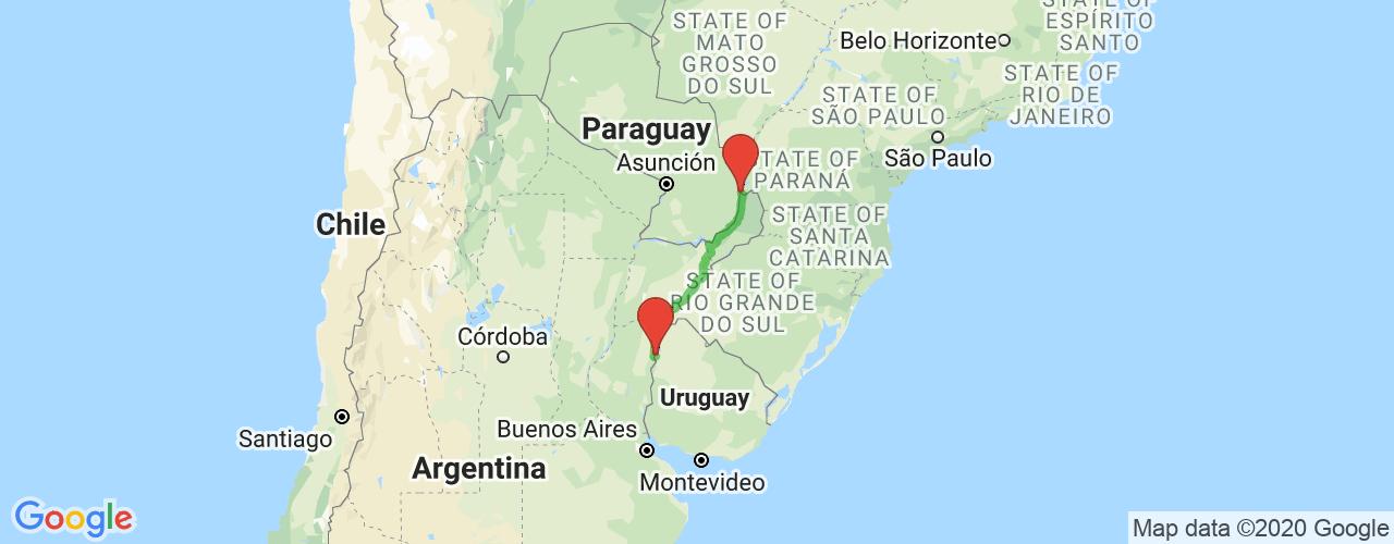Comprar pasajes saliendo de Concordia a Puerto Iguazú. Pasajes baratos a Puerto Iguazú en bus precio y horario desde Concordia.