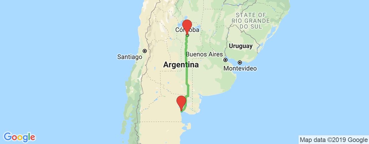 Comprar pasajes saliendo de Córdoba a Las Grutas. Pasajes baratos a Las Grutas en bus precio y horario desde Córdoba.