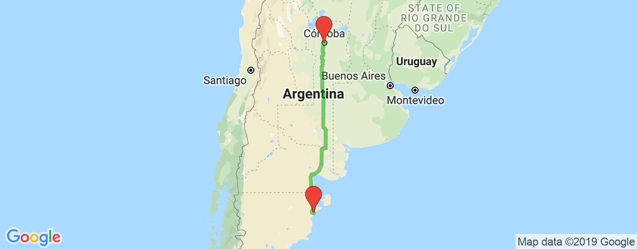 Comprar pasajes saliendo de Córdoba a Rawson. Pasajes baratos a Rawson en bus precio y horario desde Córdoba.