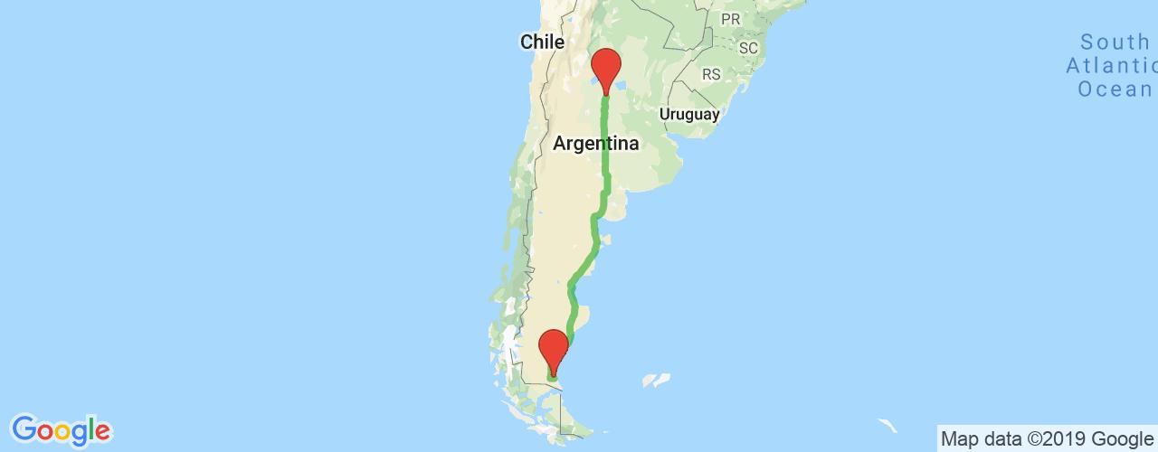 Comprar pasajes saliendo de Córdoba a Río Gallegos. Pasajes baratos a Río Gallegos en bus precio y horario desde Córdoba.