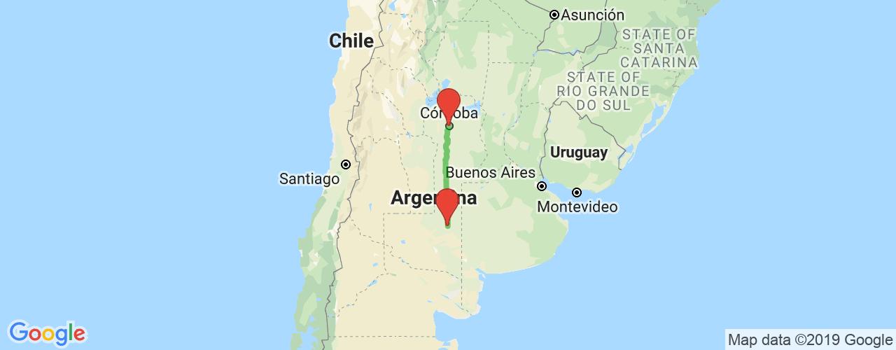 Comprar pasajes saliendo de Córdoba a Santa Rosa. Pasajes baratos a Santa Rosa en bus precio y horario desde Córdoba.