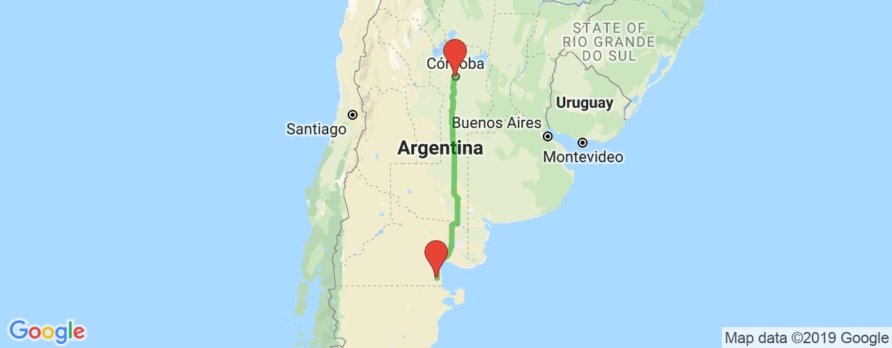 Comprar pasajes saliendo de Córdoba a Sierra Grande. Pasajes baratos a Sierra Grande en bus precio y horario desde Córdoba.
