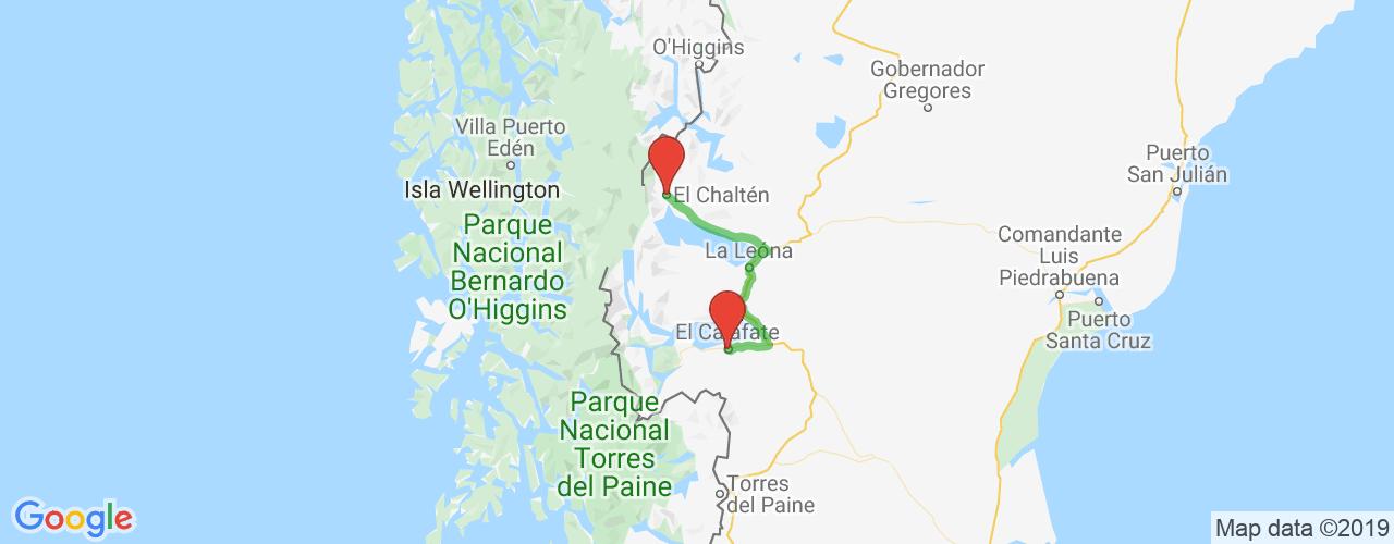 Comprar pasajes saliendo de El Chaltén a El Calafate. Pasajes baratos a El Calafate en bus precio y horario desde El Chaltén.