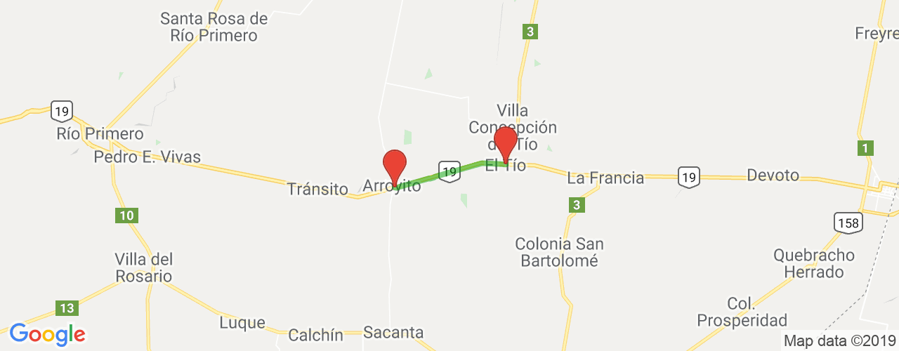 Comprar pasajes saliendo de El Tío a Arroyito. Pasajes baratos a Arroyito en bus precio y horario desde El Tío.