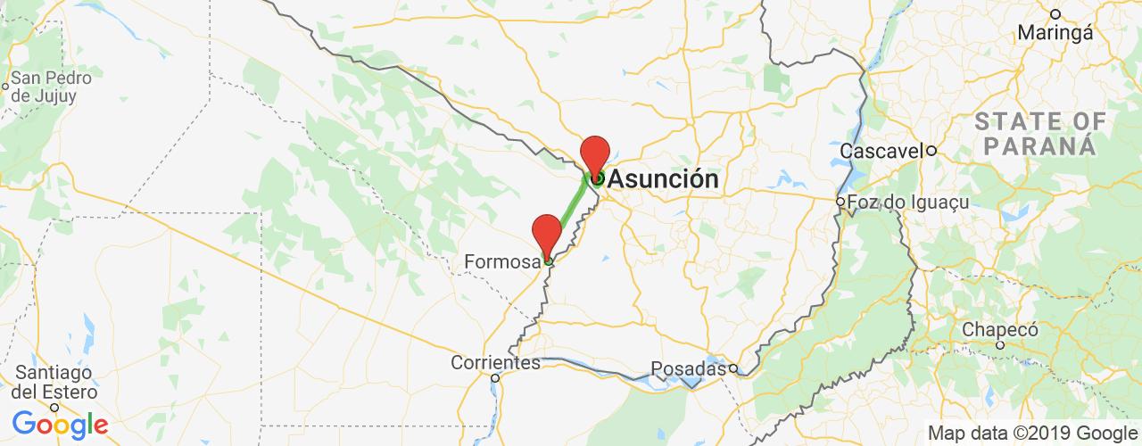Comprar pasajes saliendo de Formosa a Asunción. Pasajes baratos a Asunción, Paraguay en bus precio y horario desde Formosa.