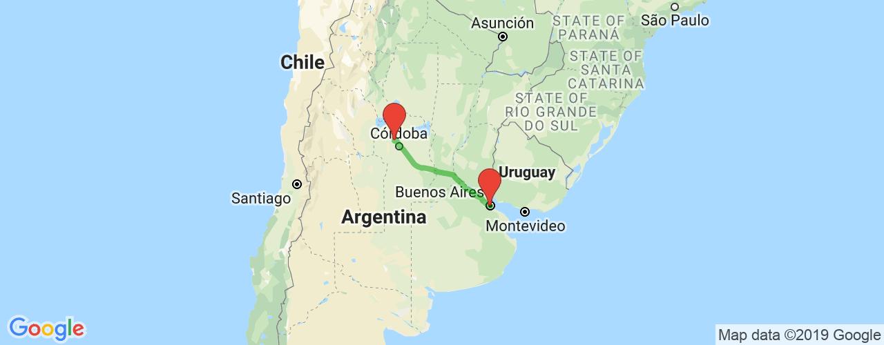 Comprar pasajes saliendo de La Falda a Buenos Aires. Pasajes baratos a Buenos Aires en bus precio y horario desde La Falda.