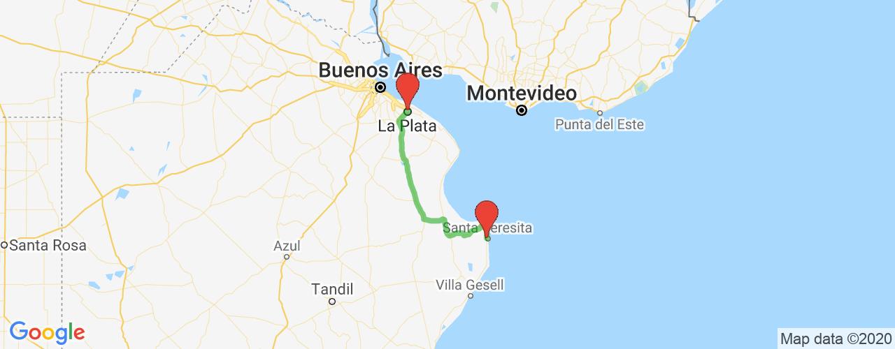 Comprar pasajes saliendo de La Plata a Santa Teresita. Pasajes baratos a Santa Teresita  en bus precio y horario desde La Plata.