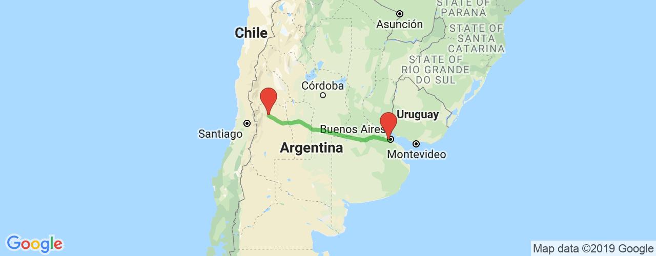 Comprar pasajes saliendo de Liniers a Mendoza. Pasajes baratos a Mendoza en bus precio y horario desde Liniers.
