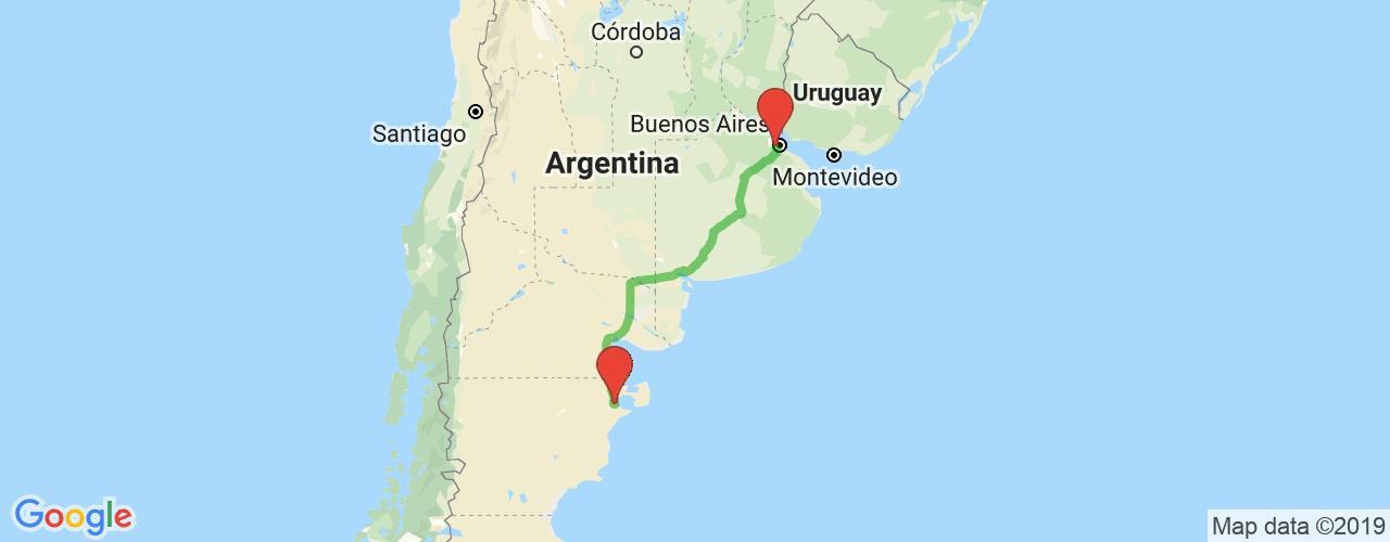 Comprar pasajes saliendo de Liniers a Puerto Madryn. Pasajes baratos a Puerto Madryn en bus precio y horario desde Liniers.