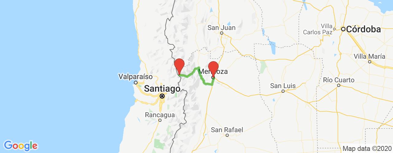 Comprar pasajes saliendo de Mendoza a Las Cuevas. Pasajes baratos a Las Cuevas en bus precio y horario desde Mendoza.