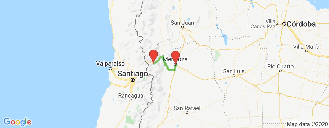 Comprar pasajes saliendo de Mendoza a Punta de Vacas. Pasajes baratos a Punta de Vacas en bus precio y horario desde Mendoza.