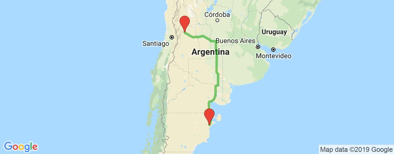 Comprar pasajes saliendo de Mendoza a Trelew. Pasajes baratos a Trelew en bus precio y horario desde Mendoza.