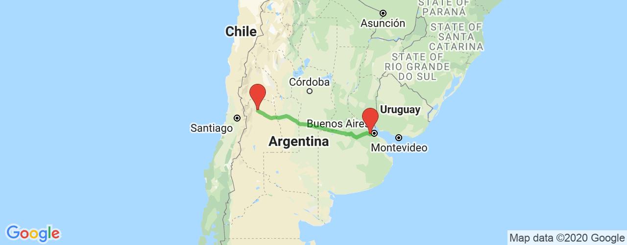 Comprar pasajes saliendo de Merlo a Mendoza. Pasajes baratos a Mendoza en bus precio y horario desde Merlo.