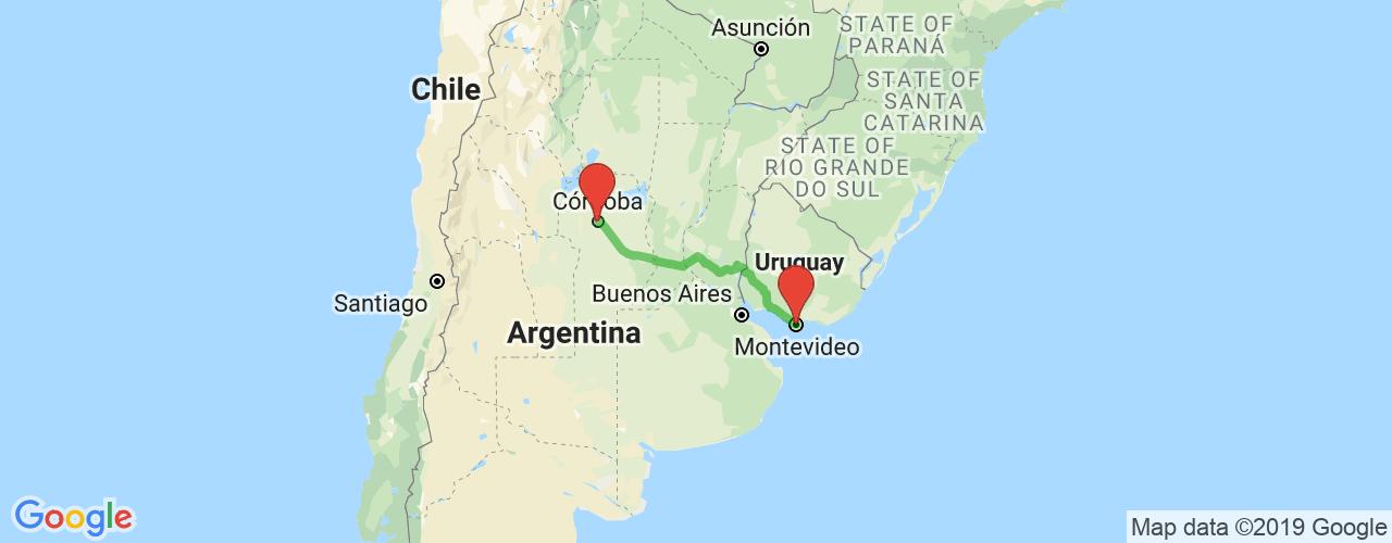 Comprar pasajes saliendo de Montevideo a Córdoba. Pasajes baratos a Córdoba en bus precio y horario desde Montevideo.