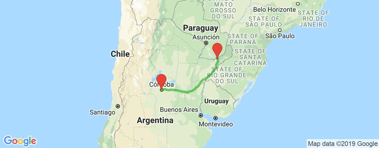 Comprar pasajes saliendo de Posadas a Córdoba. Pasajes baratos a Córdoba en bus precio y horario desde Posadas.