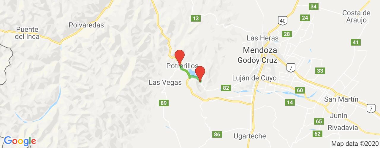 Comprar pasajes saliendo de Potrerillos a Cacheuta. Pasajes baratos a Cacheuta en bus precio y horario desde Potrerillos.