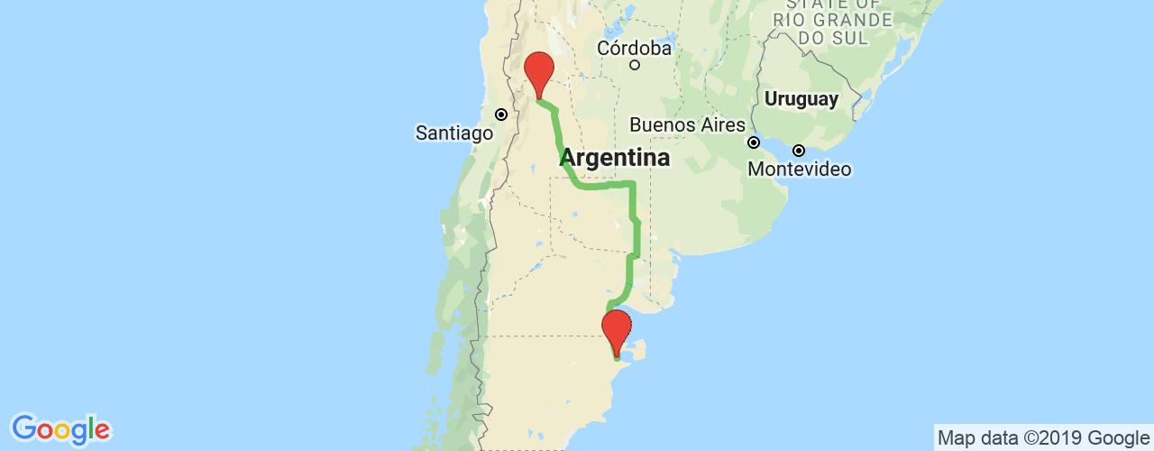 Comprar pasajes saliendo de Puerto Madryn a Mendoza. Pasajes baratos a Mendoza en bus precio y horario desde Puerto Madryn.