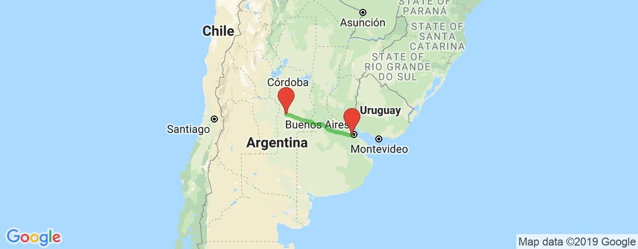 Comprar pasajes saliendo de Río Cuarto a Liniers. Pasajes baratos a Liniers en bus precio y horario desde Río Cuarto.
