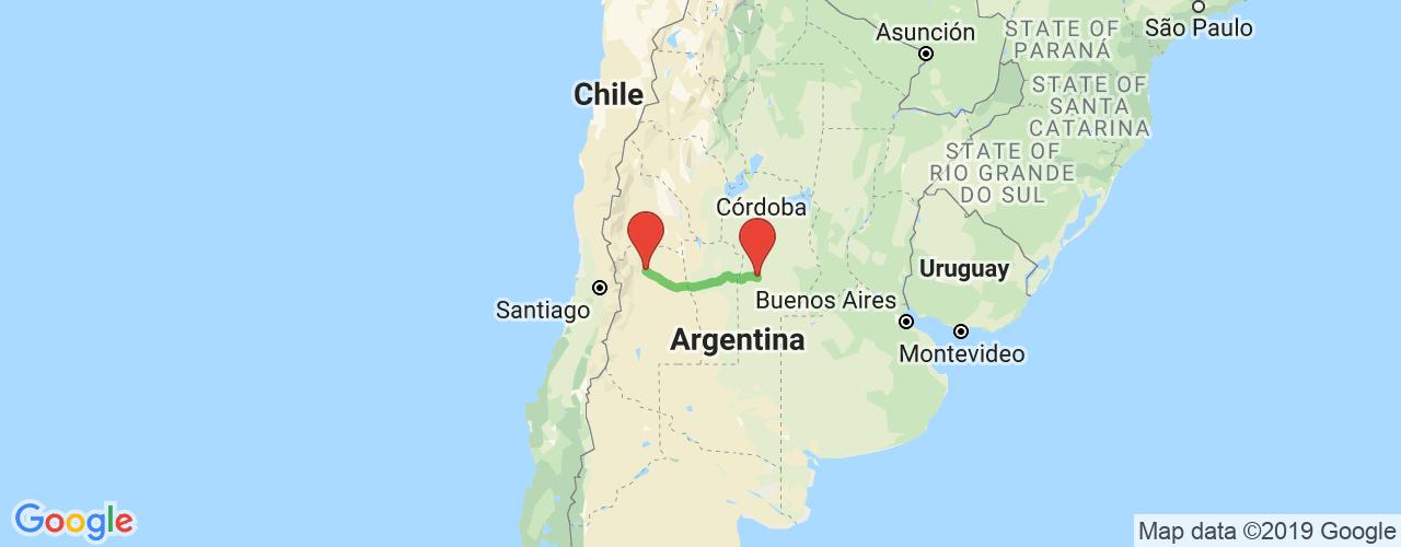 Comprar pasajes saliendo de Río Cuarto a Mendoza. Pasajes baratos a Mendoza en bus precio y horario desde Río Cuarto.