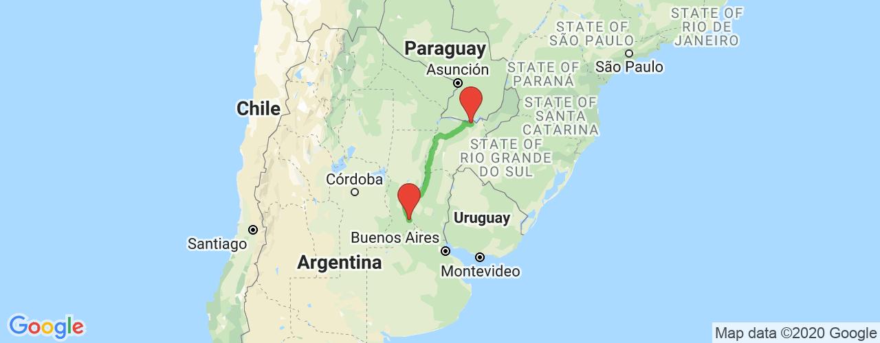 Comprar pasajes saliendo de Rosario a Ituzaingó. Pasajes baratos a ituzaingó en bus precio y horario desde Rosario.