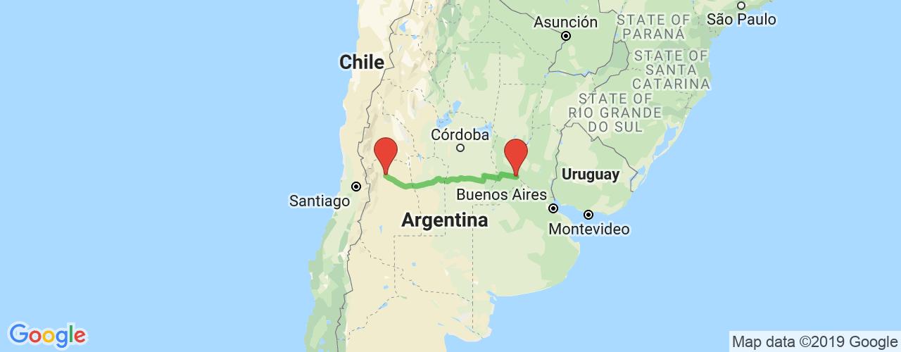 Comprar pasajes saliendo de Rosario a Mendoza. Pasajes baratos a Mendoza en bus precio y horario desde Rosario.