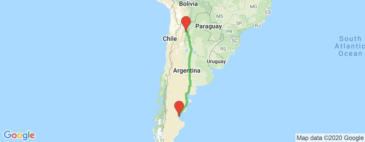 Comprar pasajes saliendo de Salta a Comodoro Rivadavia. Pasajes baratos a Comodoro Rivadavia en bus precio y horario desde Salta.