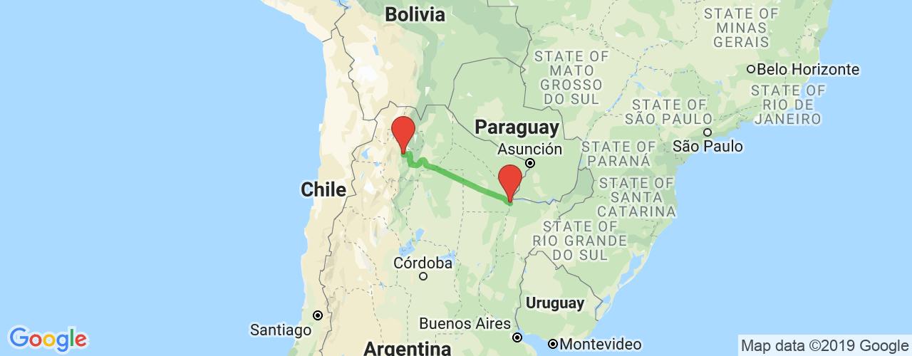 Comprar pasajes saliendo de Salta a Corrientes. Pasajes baratos a Corrientes en bus precio y horario desde Salta.
