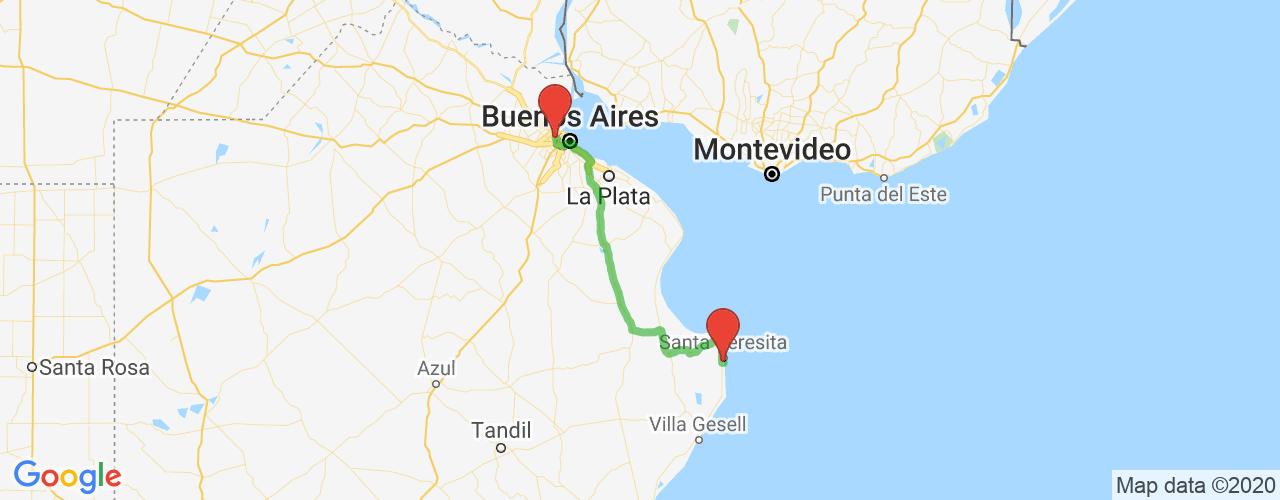 Comprar pasajes saliendo de San Martín a Mar del Tuyú. Pasajes baratos a Mar del Tuyú en bus precio y horario desde San Martín