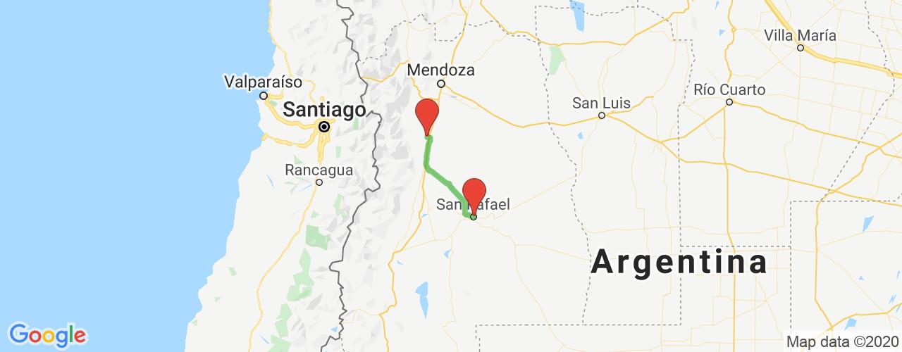 Comprar pasajes saliendo de San Rafael a Tunuyán. Pasajes baratos a Tunuyán en bus precio y horario desde San Rafael.