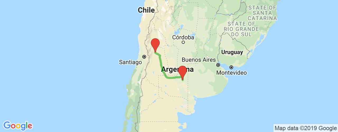 Comprar pasajes saliendo de Santa Rosa a Mendoza. Pasajes baratos a Mendoza en bus precio y horario desde Santa Rosa.