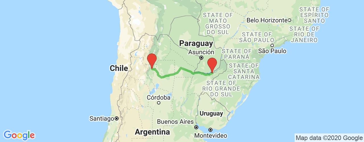 Comprar pasajes saliendo de Tucumán a Posadas. Pasajes baratos a Posadas en bus precio y horario desde Tucumán.