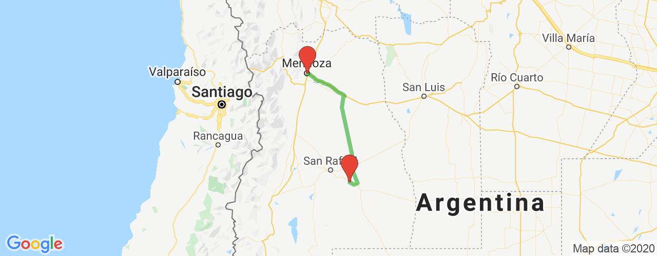 Comprar pasajes saliendo de Villa Atuel a Mendoza. Pasajes baratos a Mendoza en bus precio y horario desde Villa Atuel.