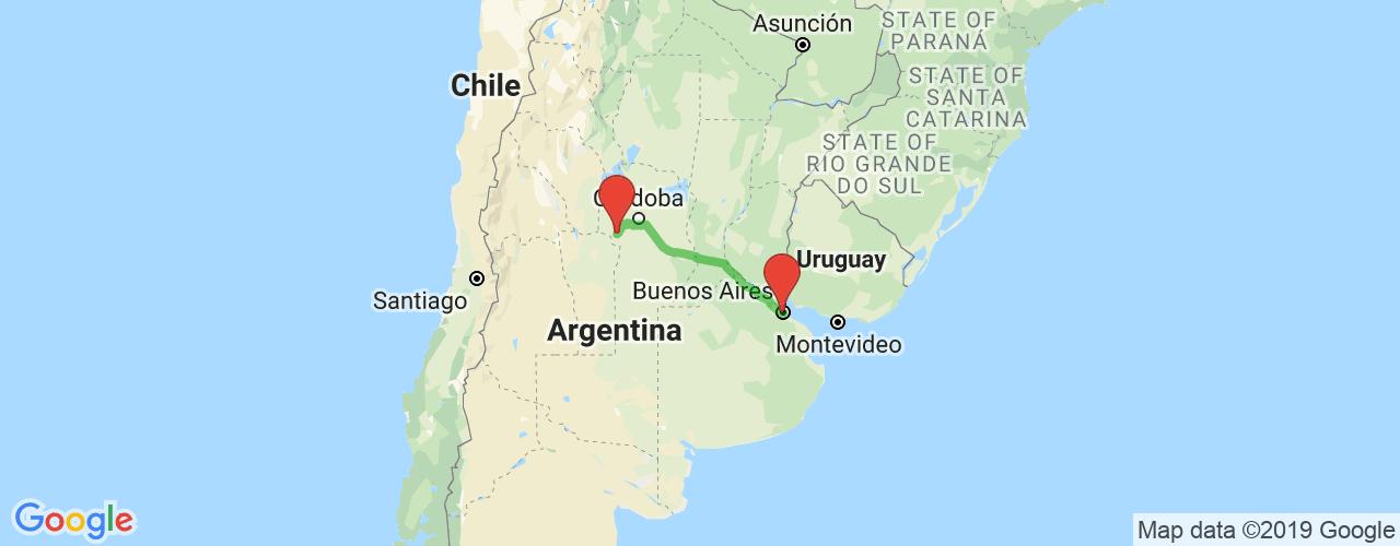 Comprar pasajes de Villa de las Rosas a Buenos Aires en micro. Pasajes baratos a Buenos Aires en bus desde Villa de las Rosas.